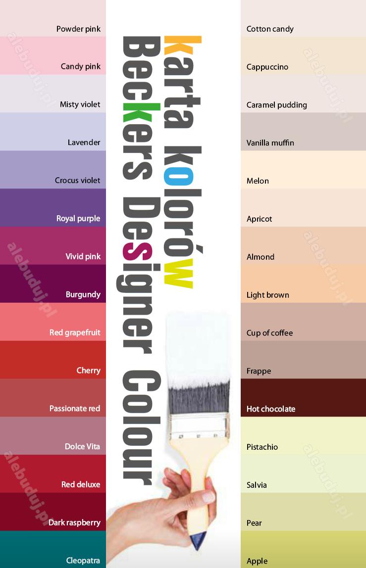 Wzornik Beckers Designer Colour Adams Centrum Handlowe
