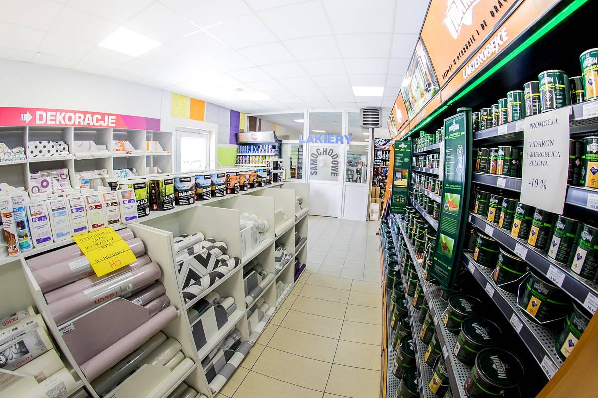 Centrum handlowe, Żary, Lakierobejca, Vidaron, V33, Lakier, Farba