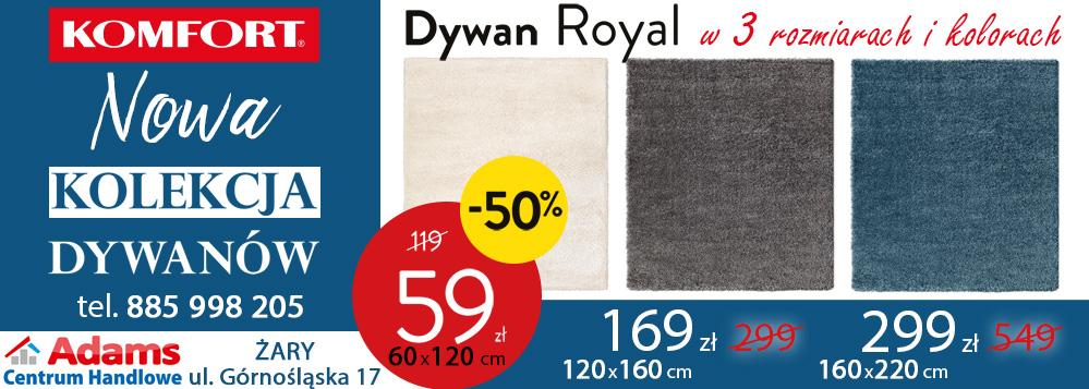 Komfort Dywany Royal Banner Promocja Adams Centrum Handlowe