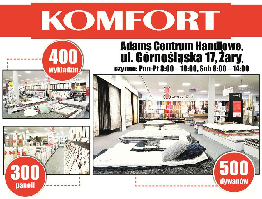 Komfort 300 paneli 500 dywanów promocja godziny otwarcia Żary