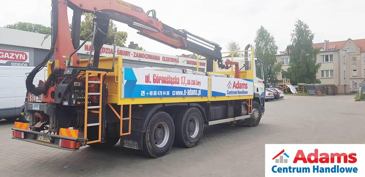 Transport HDS Adams Żary Żagań lubsko cottbus dostawa lubuskie dźwig żuraw