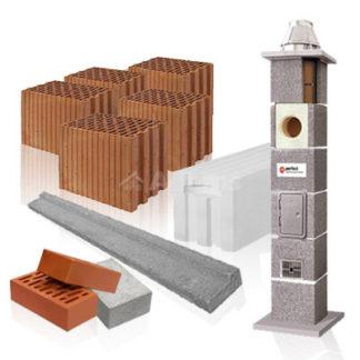 Cegły, bloczki, pustaki, nadproża, kominy