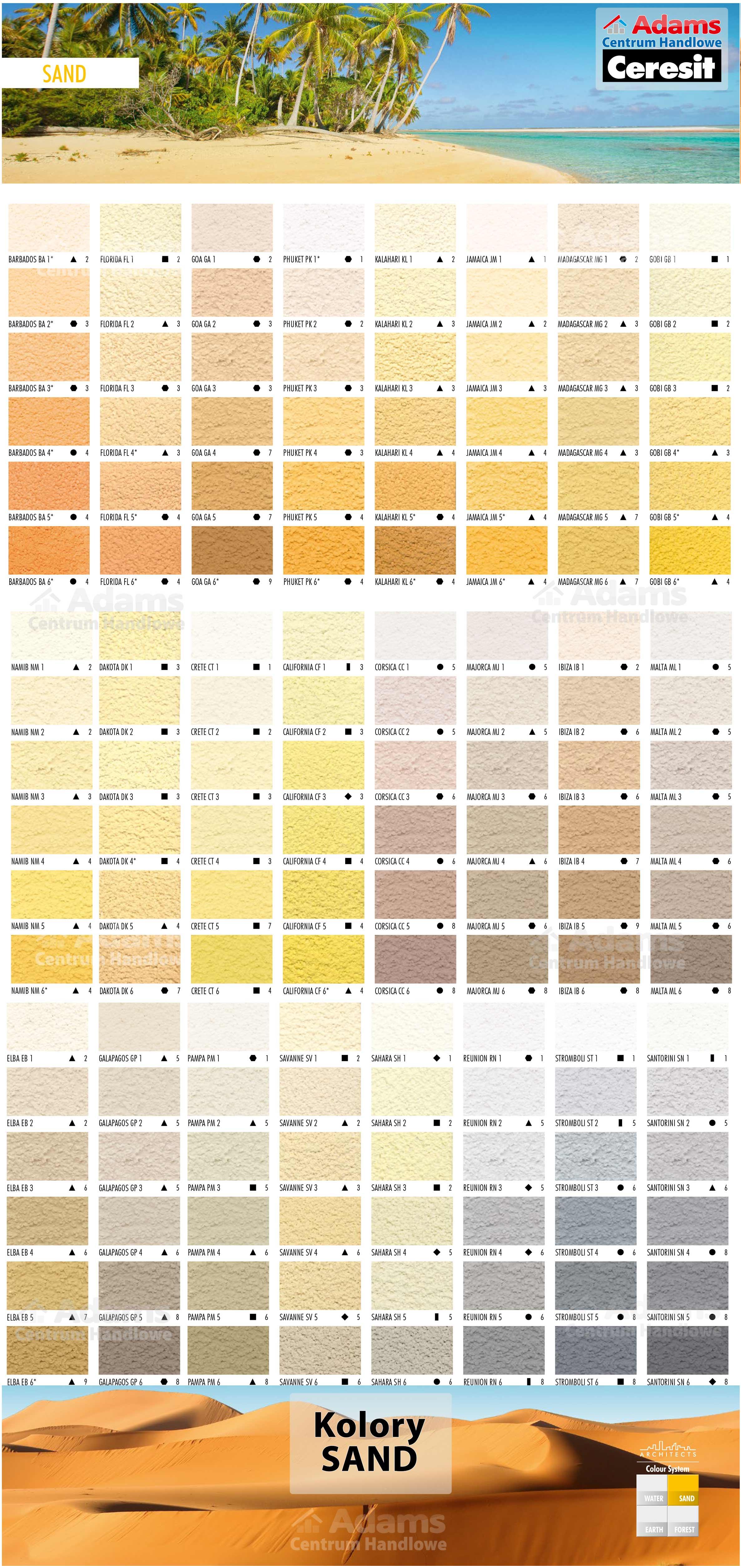 Wzornik Farb I Tynkow Ceresit Adams Centrum Handlowe