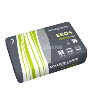 Cement eko 32,5 Żary, Cement EKO+ 32,5, Górażdże Żary, cementy workowane, spoiwo cementowe, cement wieloskładnikowy, 25kg