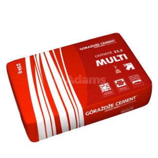 Cement multi 32,5 Żary, Cement MULTI 32,5, Górażdże Żary, cementy workowane, spoiwo cementowe, cement wieloskładnikowy, 25kg