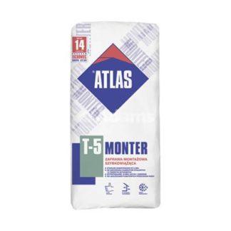 zaprawa montażowa atlas Żary. Atlas monter t5 5kg, szybkowiążąca zaprawa, Adams Żary
